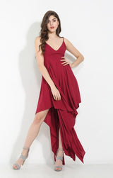 Isobel Red Maxi Dress - Fashion Genie Boutique