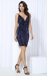 Weekend Fun Navy Sequin Mini Dress - Fashion Genie Boutique
