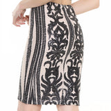 Deluxe Love Black & Nude Sequin Mini Skirt - Fashion Genie Boutique