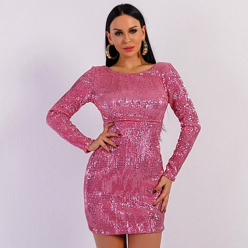 Miss You More Long Sleeve Sequin Mini Dress - Fashion Genie Boutique