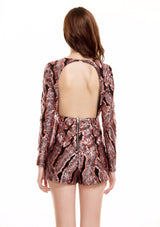 Modern Fling Black And Rose Gold Sequin Playsuit - Fashion Genie Boutique