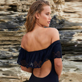 Copacabana Black Bardot Swimsuit - Fashion Genie Boutique