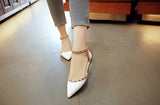 Between Me and You White Studded Pumps - Fashion Genie Boutique
