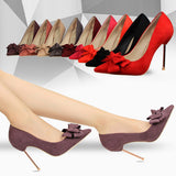 Evening Affair Butterfly Bow High Heels - Fashion Genie Boutique