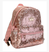 Rose Gold Sequin Mini Backpack - Fashion Genie Boutique
