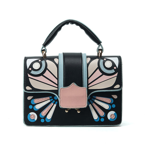 Butterfly Patchwork Tote Handbag - Fashion Genie Boutique