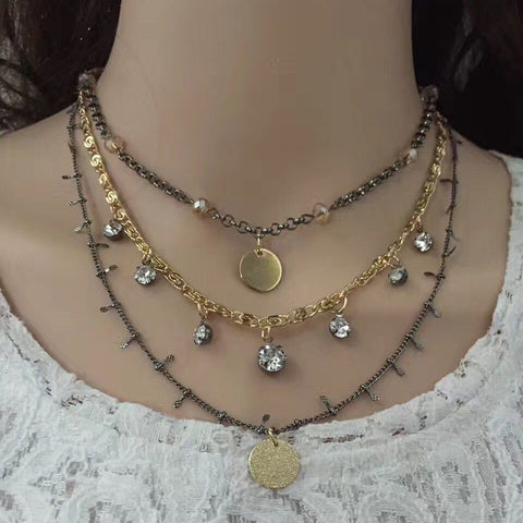 Layered Choker Necklace - Fashion Genie Boutique