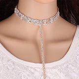 Rhinestone Collar Necklace - Fashion Genie Boutique