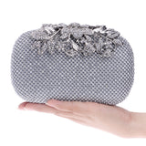 Eileen Flower Crystal Clutch Bag - Fashion Genie Boutique