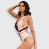 Jalou Nude & Blue Swimsuit - Fashion Genie Boutique