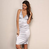 Ready For Love Silver Slinky Mini Dress - Fashion Genie Boutique