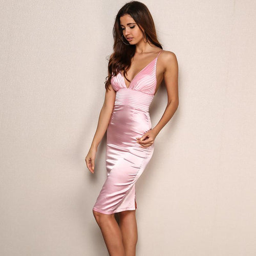 Ready For Love Pink Slinky Mini Dress - Fashion Genie Boutique
