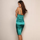 Ready For Love Green Slinky Mini Dress - Fashion Genie Boutique