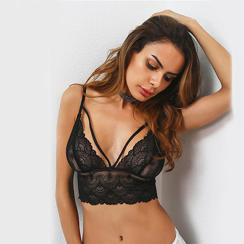Mayah Black Harness Style Bralet - Fashion Genie Boutique