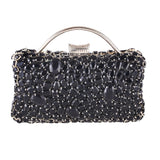 Jane Black Diamond Rhinestone Clutch Bag - Fashion Genie Boutique