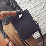 Black Crossover Messenger Handbag - Fashion Genie Boutique