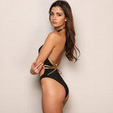 Kavari Black & Gold Bikini Swimsuit - Fashion Genie Boutique