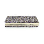 Nina Purple Stone Embellished Clutch Bag - Fashion Genie Boutique
