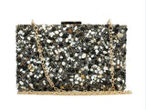 Nina Black Stone Embellished Clutch Bag - Fashion Genie Boutique