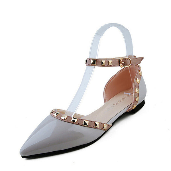 Between Me and You Grey Studded Pumps - Fashion Genie Boutique