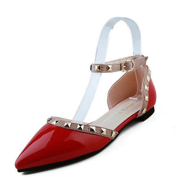 Between Me and You Red Studded Pumps - Fashion Genie Boutique