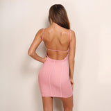 Scandalize Pink Panel Bandage Mini Dress - Fashion Genie Boutique