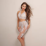 Aussie Babe White Lace Crop Top & Mini Skirt Co-Ord - Fashion Genie Boutique