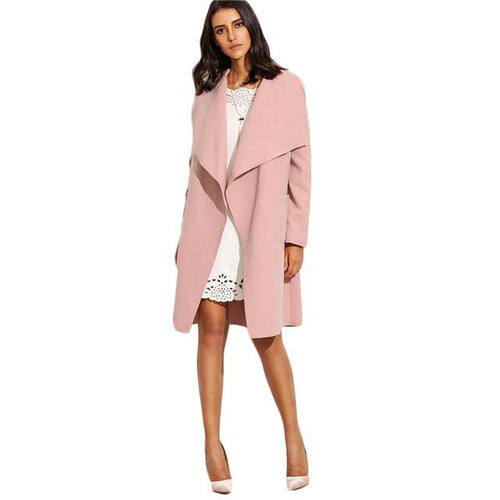 Spin Me Around Pink Waterfall Wrap Coat - Fashion Genie Boutique