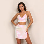 Cosmic Unicorn White Sequin Iridescent Mini Skirt & Crop Top - Fashion Genie Boutique