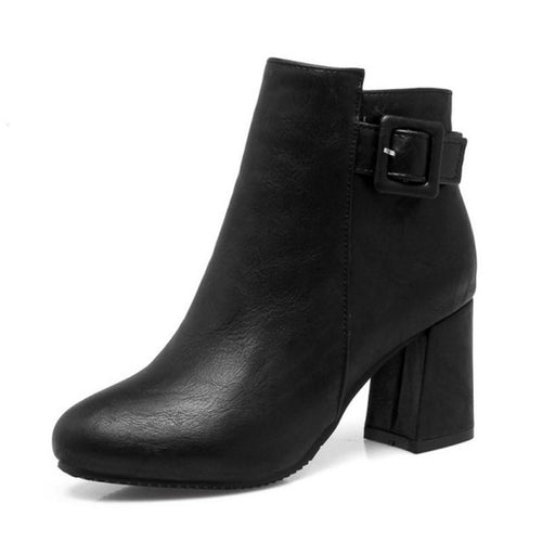 Outta Town Black Block Heel Ankle Boots - Fashion Genie Boutique