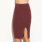 Perfectly Put Together Burgundy Mini Pencil Skirt - Fashion Genie Boutique