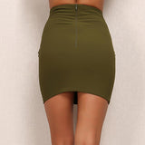 Keep It Quiet Green Lace Up Mini Skirt - Fashion Genie Boutique