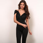 Jump Into Love Black Bardot Jumpsuit - Fashion Genie Boutique