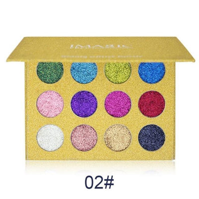 IMagic Beauty Glitter 12 Color Eyeshadow Palette - Fashion Genie Boutique