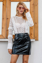 Nicky White Ruffle Long Sleeve Top - Fashion Genie Boutique