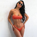 Kelsey Orange Bikini Swimsuit - Fashion Genie Boutique