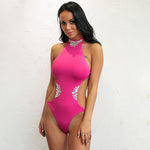Promised Paradise Pink Crystal Monokini Swimsuit - Fashion Genie Boutique