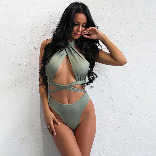 Dorina Green Monokini Swimsuit - Fashion Genie Boutique