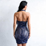 Caught Up Blue Sequin Strapless Mini Dress - Fashion Genie Boutique