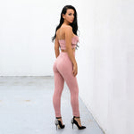 Romantic Liaison Pink Strapless Crop Top & Trousers Co-Ord - Fashion Genie Boutique