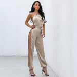 Parker Gold Satin Jumpsuit - Fashion Genie Boutique