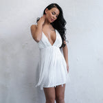 Hello Flawless White Fringe Mini Dress - Fashion Genie Boutique