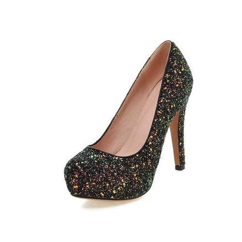 Dirty Dancing Black Glitter Court Shoes - Fashion Genie Boutique