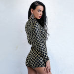 D For Danger Black & Gold Sequin Playsuit - Fashion Genie Boutique