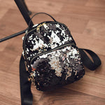 Mini Black Sequin Backpack - Fashion Genie Boutique