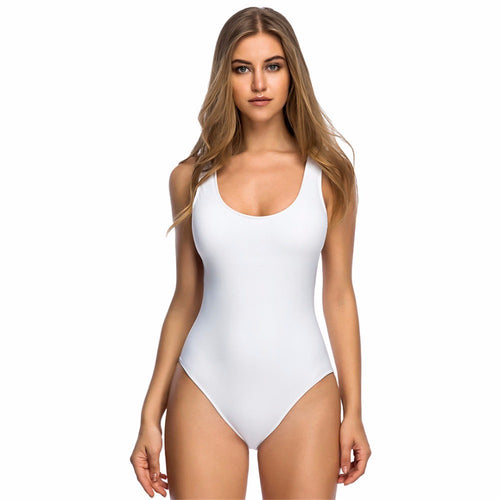 Jacey White Padded One Piece Swimsuit - Fashion Genie Boutique