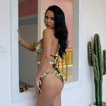 Malibo Babe Gold Sequin Crystal Bikini Swimsuit - Fashion Genie Boutique