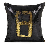 Black & Gold Reversible Two Tone Sequin Cushion Cover - Fashion Genie Boutique