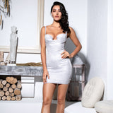 Keeping it Luxurious Silver Glitter Mini Dress - Fashion Genie Boutique