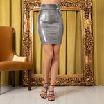 Hansel Silver Metallic Mini Skirt - Fashion Genie Boutique